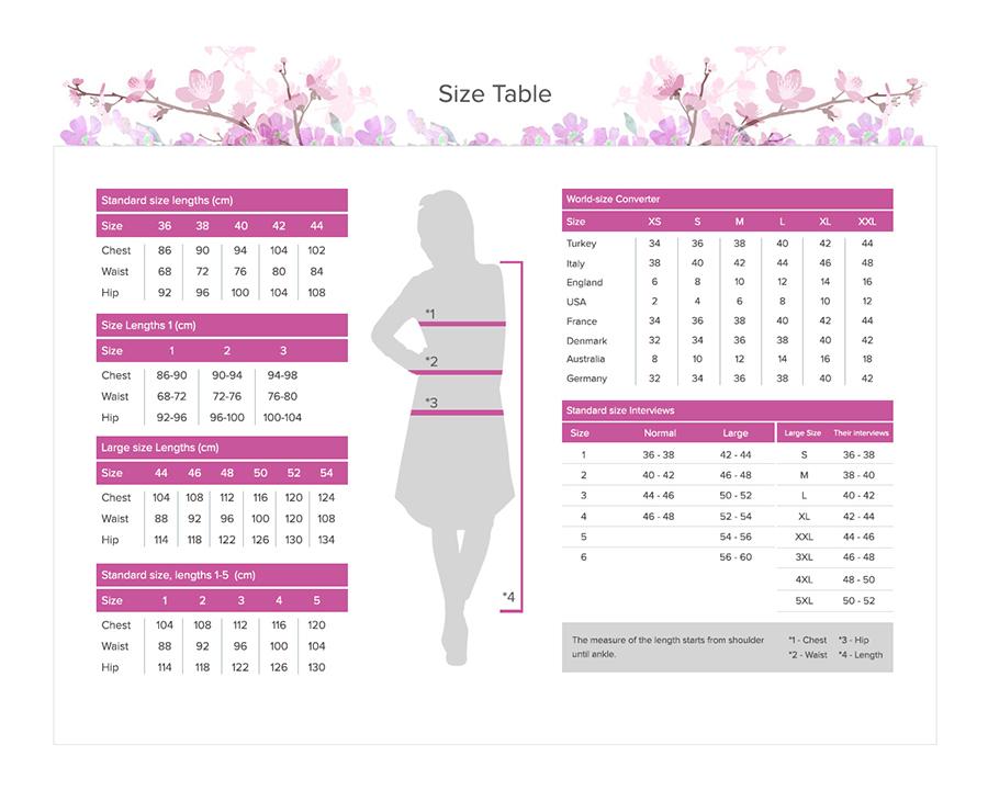 Etesettür kadın beden ölçüleri